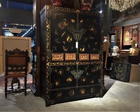 Antique cabinet in oriental style