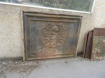 Antique fireplace plate