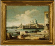 "Antique painting ""View of Venice"""