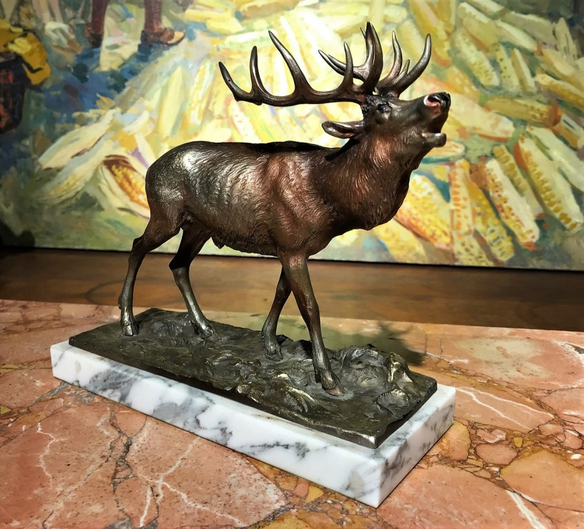 "Antique sculpture ""Deer"""