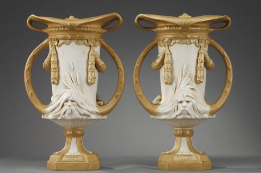 Antique pair vases