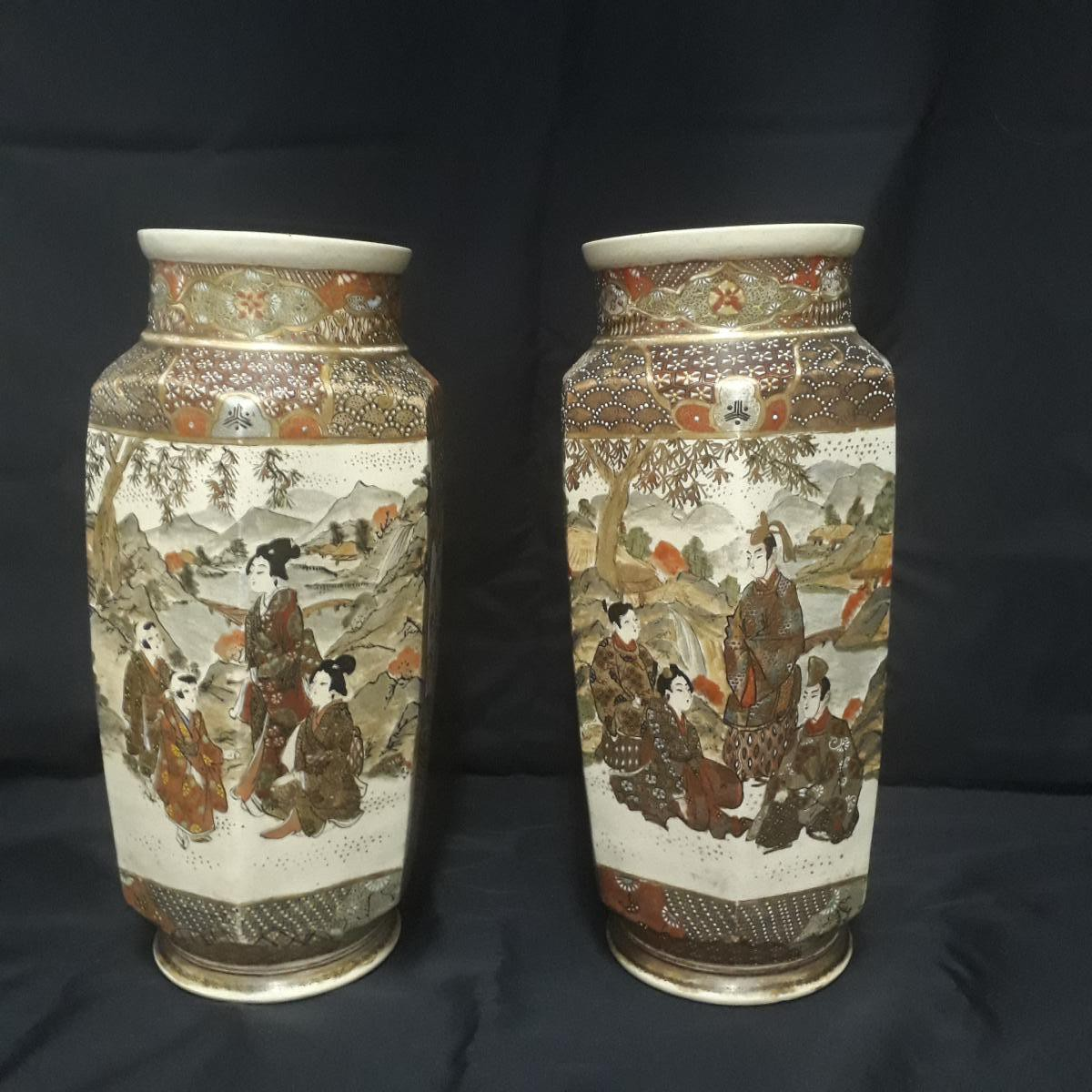 Antique twin vases