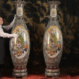 incredible Antique pair Satsuma vases