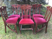 Antique Art-Nouveau style chairs