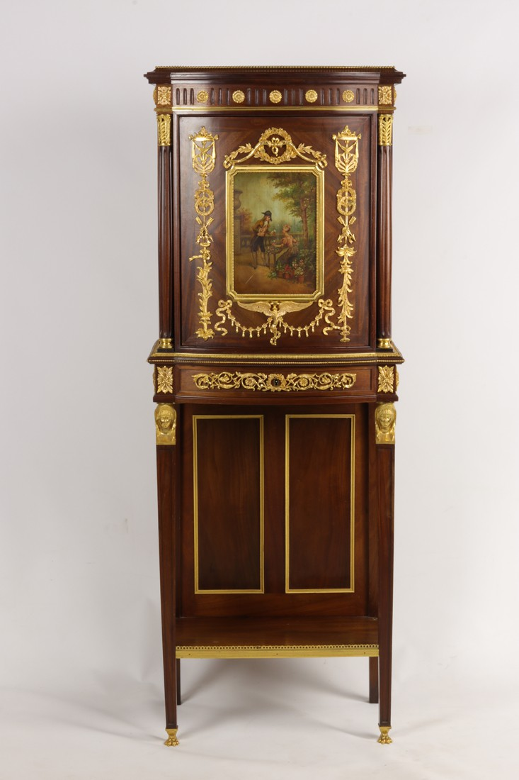 Antique Vernis Martin cabinet