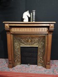 Antique XIXth C. fireplace with insert
