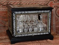 Antique liqueur set Paul Sormani