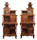 Rare antique pair cabinet by G. Viardot