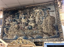 Antique rare Aubusson tapestry of the XVIIth C.