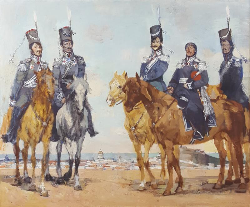 "Antique painting ""Don Cossacks"""