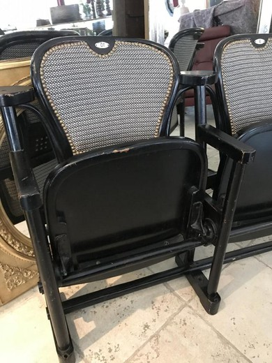 Antique theatrical chairs