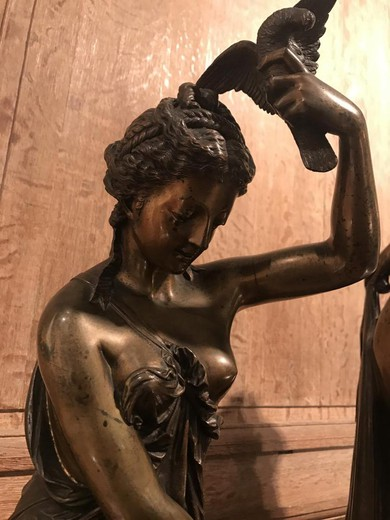 "Ancient pair sculptures ""Venus and Phryne"""
