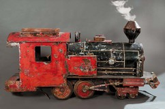 Large antique model of the locomotive