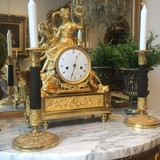 Antique gilt bronze pendulum clock