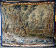 Antique rare Aubusson tapestry