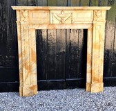 Rare antique fireplace portal