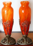 Pair antique Art-Deco vases