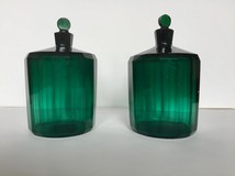 Pair of antique bottles for perfumery