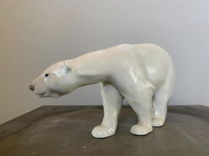 "Vintage figurine ""Polar bear"""