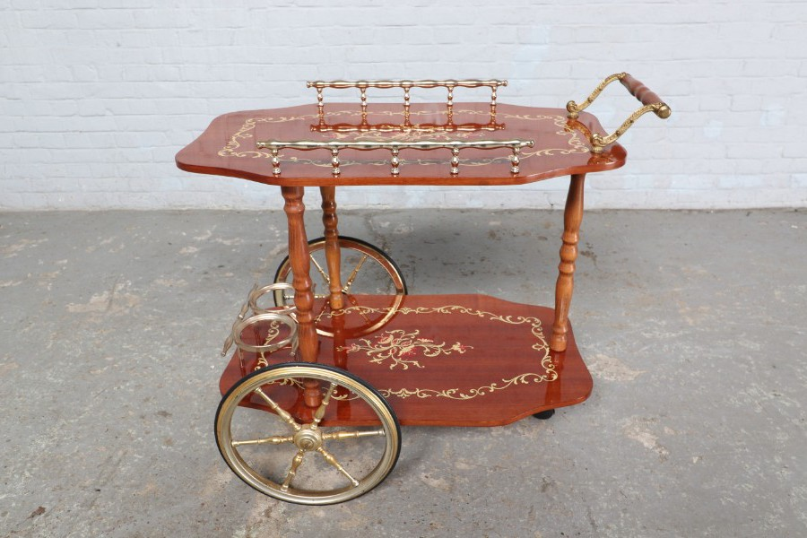 Vintage serving table