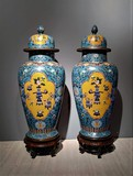 "Antique pair vases ""Seasons"""