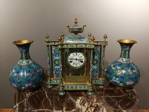 Chinese watches with paired vases