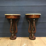 Pair of antique wall consoles