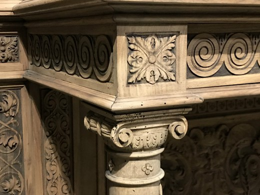 Antique pair of renaissance carved consoles