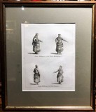 "Antique engraving ""Costumes of the Peoples of Russia"""