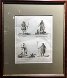 "Antique engraving ""Costumes of the Peoples of Siberia"""