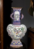 Antique cloisonne technique vase