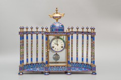 Antique cloisonne clock