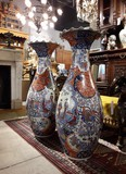 Antique pair Imari porcelain vases