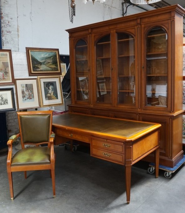 Antique cabinet of three items