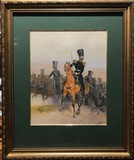 "Lithograph ""The form of guards cavalry"""