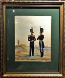 "Antique lithography ""The uniform officers of the Guards infantry."""