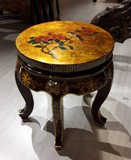 Painted Chinese pedestal table