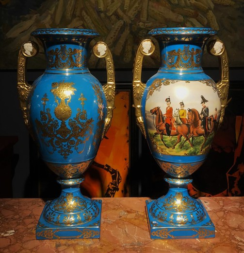 Vintage paired vases