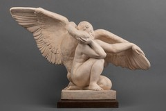 Antique sculpture of Leda and the swan