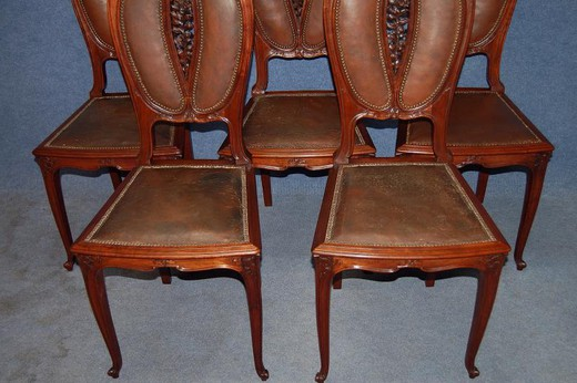 Antique art nouveau chairs