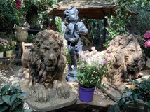 "Pair sculptures ""Lions"""