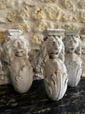 Antique Marble Lions