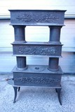Antique wood burn stove jugendstil