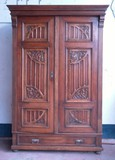 Antique neo-gothic style wardrobe