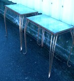 Antique tables with mirror tops