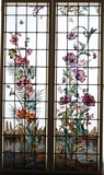 Paired stained glass windows