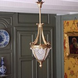 Antique lantern with crystal pendants