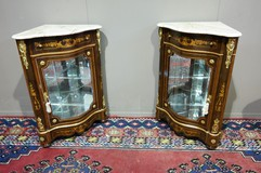 Antique paired corner cabinets