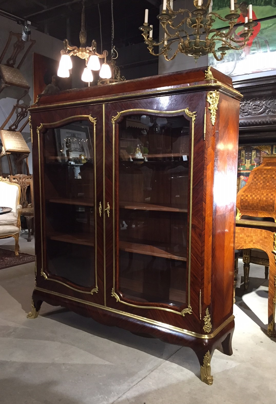 Antique Louis XV bookcase
