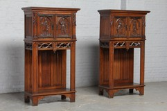 Antique gothic cabinets
